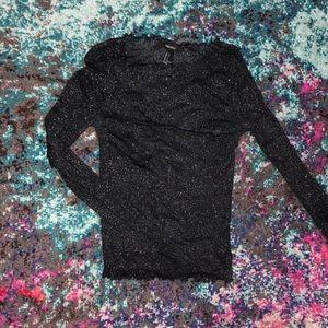 Black Sheer/Mesh Top